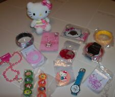 Lot of 14 HELLO KITTY Items - Watch, Earrings, Necklace, Bracelets & More!