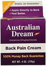 Back Pain Cream - Does not Burn & Contains No Odor, 4 oz. By Australian Dream