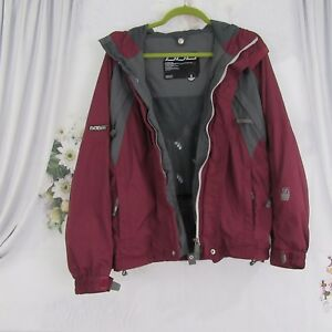 686 Purple Grey Snow Ski Hooded Jacket Size S