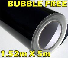 GLOSS BLACK 3 LAYERED VINYL ROLL FULL CAR VEHICLE WRAP 1.52M X 5M BUBBLE FREE