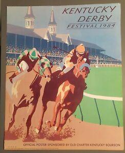 1984 Kentucky Derby Poster Print Charter Bourbon