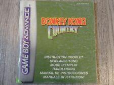 NOTICE MANUEL DONKEY KONG COUNTRY GAME BOY GAMEBOY ADVANCE GBA (NEU6)