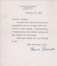 US First Lady Eleanor Roosevelt Original Signed Note to Irving Drutman app $3K