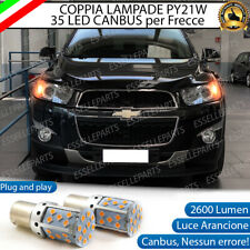 COPPIA LAMPADE PY21W CANBUS 35 LED CHEVROLET CAPTIVA RESTYLING FRECCE ANTERIORI