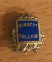 Old Enamel Burdette College Pin