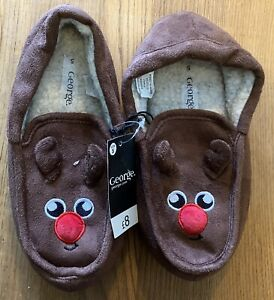 George Brown Rudolph Slippers Size UK 5