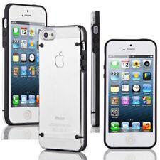 Fundas y carcasas transparentes Para iPhone 5 color principal negro para teléfonos móviles y PDAs