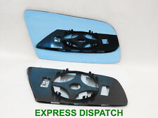 For BMW SERIES 5 E60 2003-10 Heated Wing Mirror Glass CONVEX Right BLUE /B006