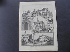 1893 Stich 54  / Heilsbronn Nürnberg Ansbach Franken Hohenzollern