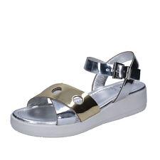 scarpe donna KEYS 36 EU sandali argento oro pelle BT984-36