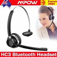Mpow HC3 Truck Driver Noise Cancelling Wireless Headphones Bluetooth Headset AU