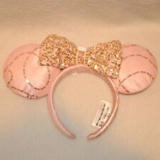 New Disneyland Best Day Ever Pink Ears Headband Bibbidi Bobbidi Boutique Sequins