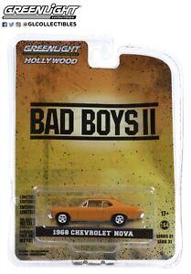 Greenlight 1:64 Hollywood 31 Bad Boys II 1968 Chevrolet Nova Orange 44910F Model