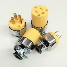 4pc Male & Female Extension Cord Replacement Electrical Plugs 15AMO 125V End