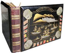 1918 Great War - EMPTY ILLUSTRATED LAQUER ALBUM - Rare Malta Item