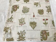 Pottery Barn Table Napkins ~ Botanicals ~ Set of Six ~ Linen Blend