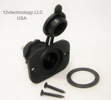 Motorcycle Marine Waterproof 12 Volt Accessory Socket Plug Outlet Lighter Jack