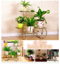 Outdoor Indoor Pot Plant Stand Garden Quality Metal 1 2 or 3 or 4 Tier Shelves