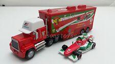 Disney Pixar Car Mack Racer's Truck & Francesco Bernoulli Toy Car 1:55 Loose New