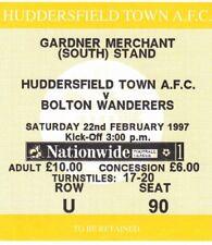 Ticket - Huddersfield Town v Bolton Wanderers 22.02.97