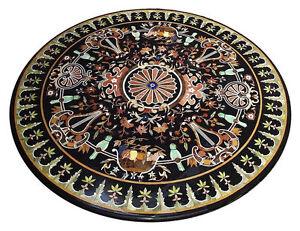 "48"" Coffee Table Top Marble Inlay Pietra dura Work Handmade Home Decor"
