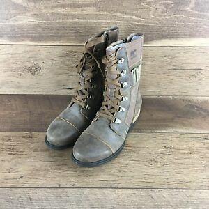 NIB SOREL Major Carly WATERPROOF Combat Leather Boots WOMENS Sz.7 US FAST SHIP