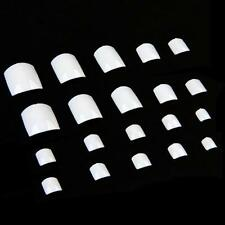 500Pcs Transparent French Acrylic UV Gel Manicure False Nail Art Tips White