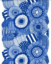 Marimekko Blue Siirtolapuutarha fabric, half yard, cotton, Finland