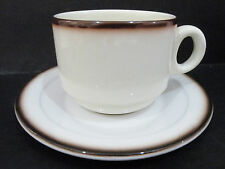 Australian Fine China / Gibson Paterson - Cup & Saucer  vgc  dark brown band