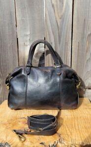 Madewell Kensington Black Leather Satchel English Saddle Leather