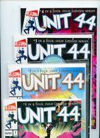 Unit 44 #1, #2, #3, and #4 Alterna Comics Lot of 4 Books