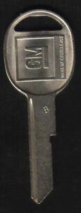 Chevrolet C10 Camaro Chevelle 1967 1971 1975 1979 1983 84 85  B49 GM B Key Blank