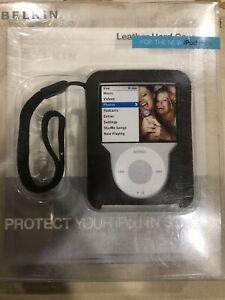 $25 BELKIN HARD Leather Case for Apple IPOD Nano 3G Video 3rd Gen ~Solid BROWN