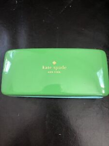 Kate Spade Green & Turquoise Sunglass Eyeglass Case Hard Shell Eye Glass Case