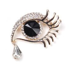 Women Lady Rhinestone Crystal Angel Tears Drop Brooch pin Bouquet Prom Party