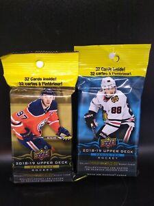 2018/19 Upper Deck Hockey Series 1 & 2 Factory Sealed Jumbo Fat Pack.~ Lot Of 2.