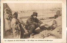 POSTCARD Thessaloniki A village in the vicinity of Thessaloniki c1915 - perf
