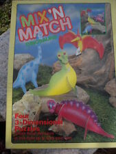 Mix n Match Dinosaurs Four 3-D Puzzles #1806 Grand Toys 07858101806 Made in USA