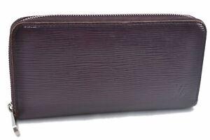 Authentic Louis Vuitton Epi Zippy Wallet Long Purple M6007K LV E2277