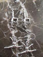 So Cute!!! Tibetan Silver Gymnast Dancer Ballet Artisan Handcrafted Earrings