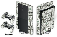 Skin Decal Wrap for PS3 Playstation Gaming Console 3 Super Slim - Money Ballin