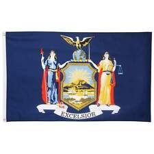 5' x 3' New York (Empire) State Polyester  Flag with 2 Grommets