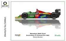 Coffee Mug 1987 Benetton B187 Ford #20 Thierry Boutsen (BEL) by Guy Golsteyn