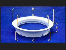 (FZ03) 4 Stück  Zentrierringe 63,3 / 56,1 mm dunkelgrau für Alufelgen