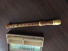 Antique Vintage Soprano Pearwood Recorder Adler Barockmeister