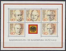 Germany Bund BRD 1982 ** Bl.18 Bundespräsidenten Presidents Heuss Scheel Lübke