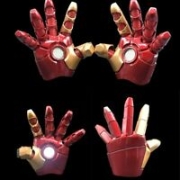 1:1 Marvel Avengers Iron Man MK43 Electric Gloves With LED Light Figure Models