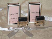 'Dahlia Noir' Givenchy Paris. Women's Mini Eau de Parfum. Lot of 2. New.