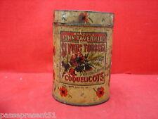 Jolie ancienne boîte en tôle, Bonbons John Tavernier, Coquelicots