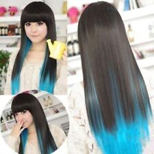 Blue Straight Wigs & Hairpieces
